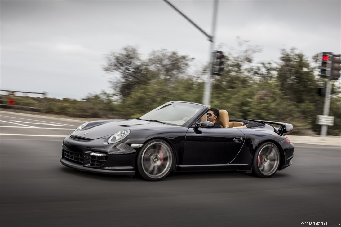porsche 911 cabrio with a gt2 body kit by ted7 automotive photographer in orange county california. Black Bedroom Furniture Sets. Home Design Ideas